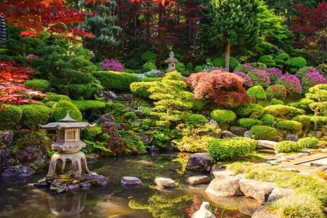 ogród japoński z oczkiem wodnym