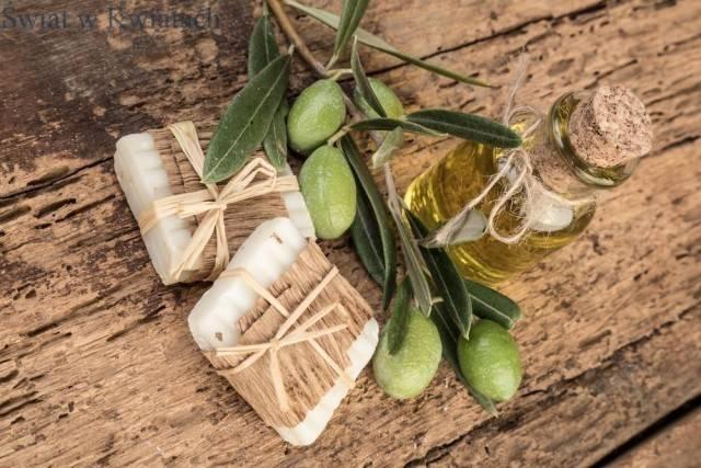 olejek i mydło z zielonych oliwek