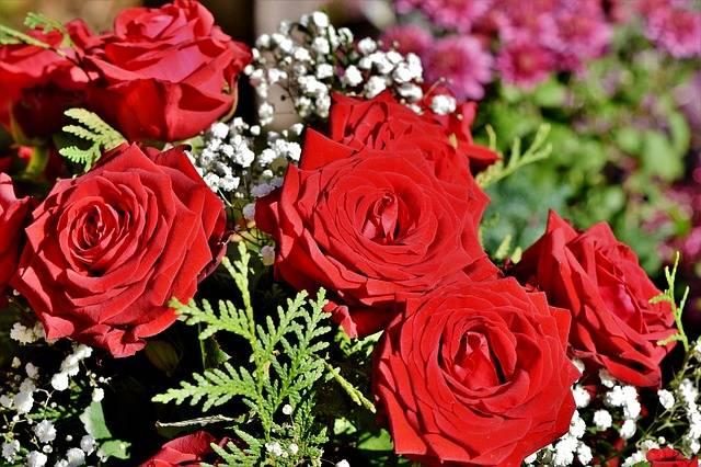 kompozycje kwiatowe na cmentarz z róż